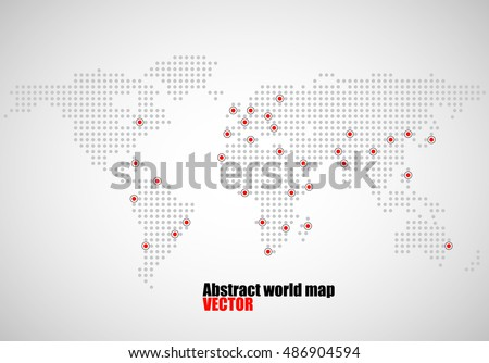 Abstract world map round dots vector stock vector 343147754 abstract world map of dots capitals countries vector illustration eps 10 gumiabroncs Images