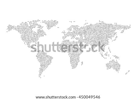 Abstract world map dots vector illustration stock vector hd royalty abstract world map of dots vector illustration gumiabroncs Images
