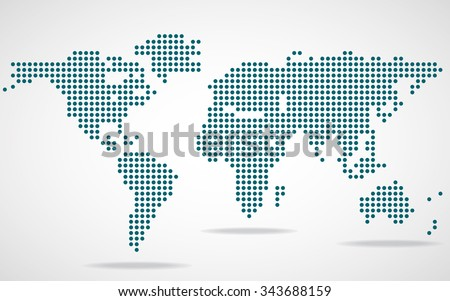 Abstract world map round dots vector stock vector 343688159 abstract world map of round dots vector illustration eps 10 gumiabroncs Images