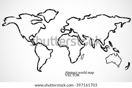 Abstract world map vector illustration stock vector royalty free abstract world map vector illustration gumiabroncs Images