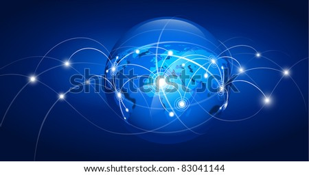 Abstract world map. Vector illustration - stock vector