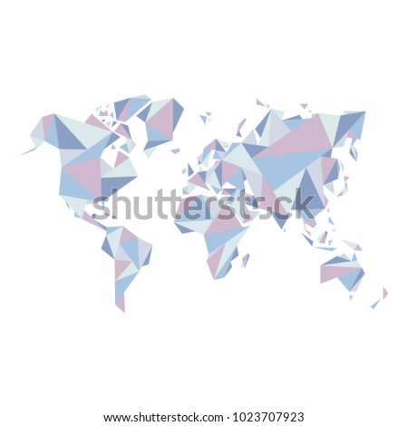 Abstract world map vector illustration geometric stock vector abstract world map vector illustration geometric structure in for presentation booklet website gumiabroncs Gallery