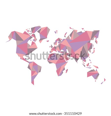 Abstract world map vector illustration geometric vectores en stock abstract world map vector illustration geometric structure in pastel color for presentation booklet gumiabroncs Choice Image