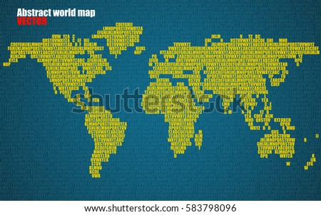 Abstract world map letters english alphabet stock vector 583798096 abstract world map with letters of english alphabet vector background gumiabroncs Image collections