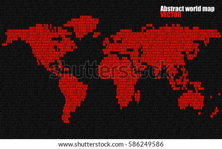 Abstract world map letters english alphabet stock vector 586249586 abstract world map with letters of english alphabet vector background gumiabroncs Images