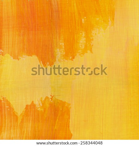 Abstract yellow background. Vector watercolor texture. Backdrop with space for text.