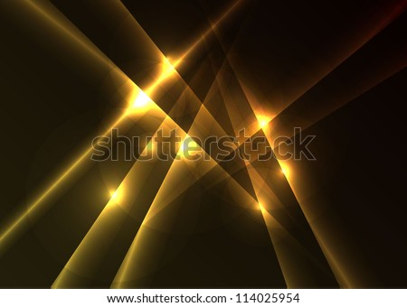 Abstract yellow background with lines - stock vector