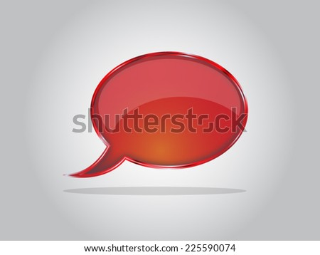 Abstract yellow glossy speech bubbles vector backgrounds EPS10 - stock vector