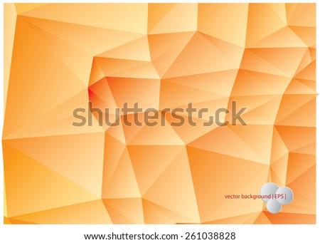 Abstract yellow orange background - stock vector