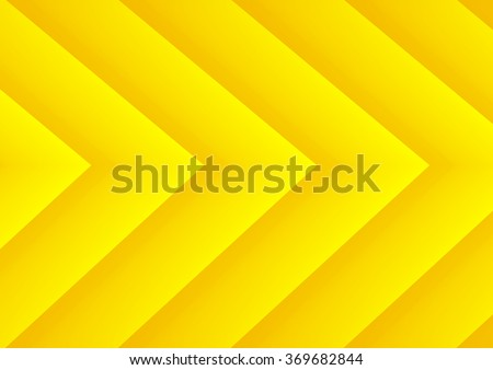 Abstract yellow speed theme arrows background for presentation - stock vector