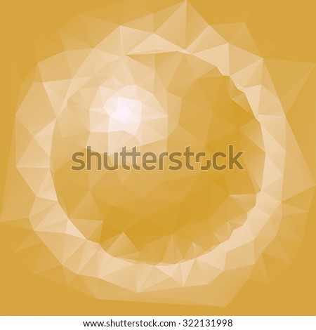 Abstract yellow sphere vector illustration. - stock vector