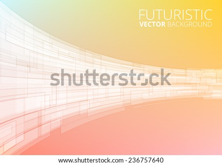 Abstract yellow technology background - stock vector
