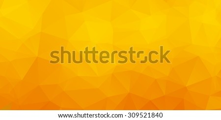 Abstract yellow triangle geometrical background. Vector illustration - stock vector