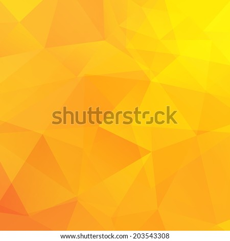 Abstract yellow triangles background. Vector illustration - stock vector