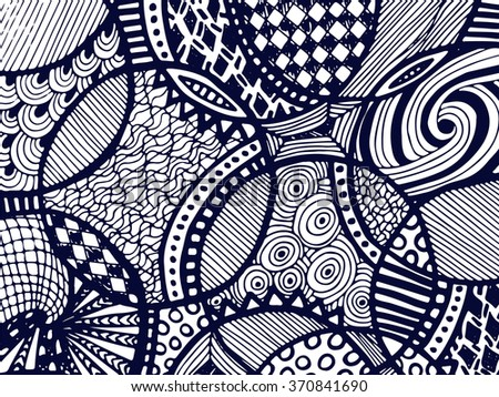 Abstract zentangle background. Tangled ornament on white. Vector can be used for creating backgrounds and surface textures, web desigh, textile and printed products.