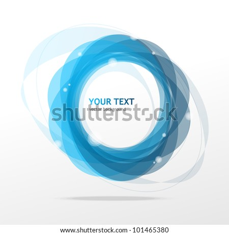 Abstraction blue background - stock vector