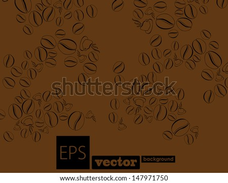 abstraction coffee - stock vector