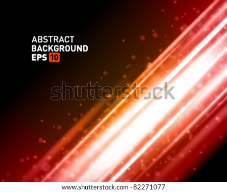 Abstraction energy vector background with place for text. Eps 10. - stock vector