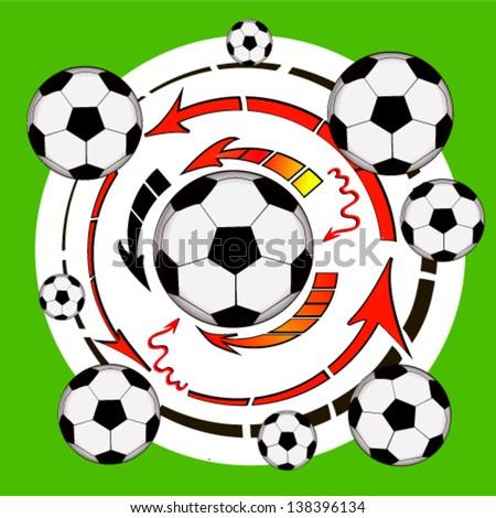 abstraction football tactics - stock vector