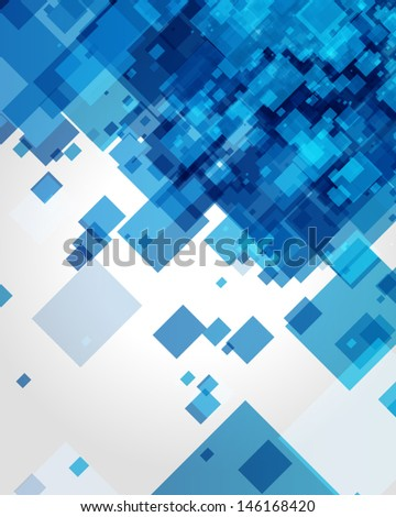 Abstraction retro painted squares vector background. - stock vector