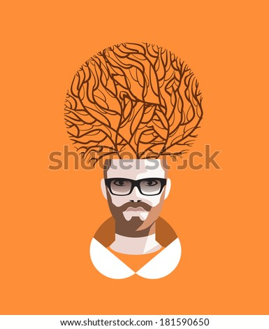 Abstraction. Vector format - stock vector