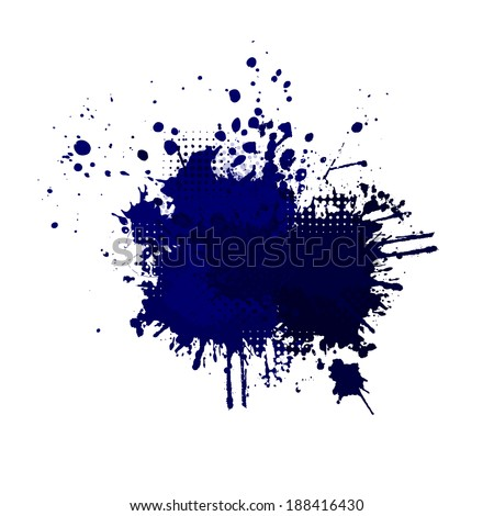 abstraction with spots of paint. Vector - stock vector