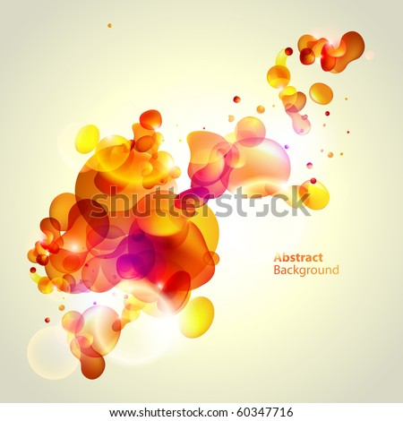 Abstraction yellow background - stock vector