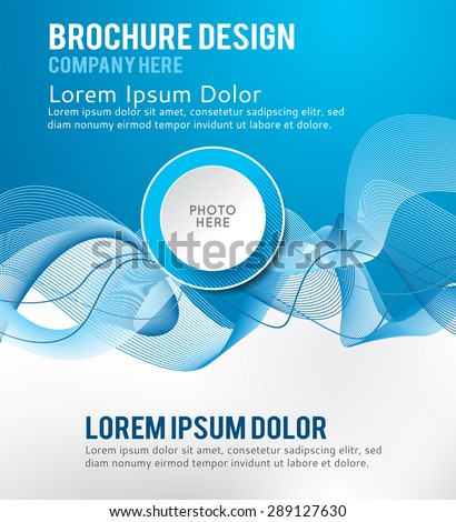 Abstractl smooth twist light lines vector background. Design layout template - stock vector