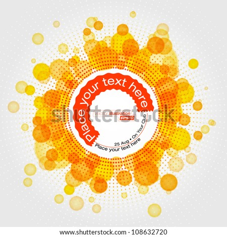 Abstracts rounded bubbles background - stock vector