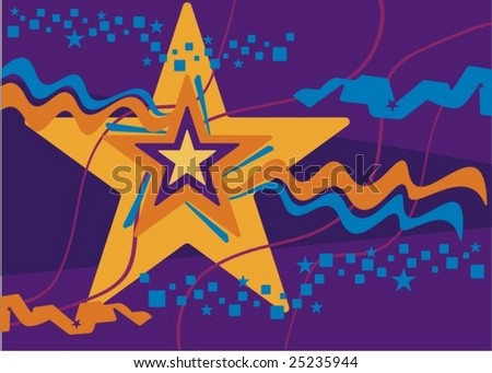 Abtract celebration related background with stars and stripes, vector illustration series.