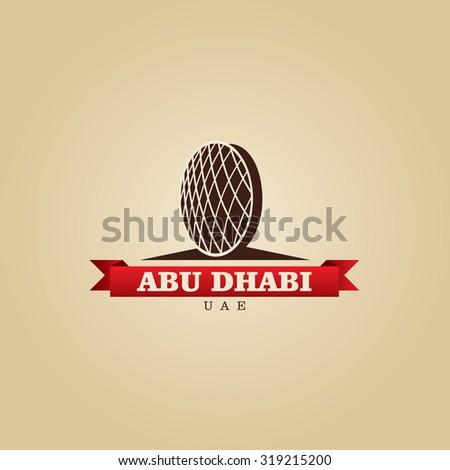 Abu Dhabi UAE city symbol vector illustration - stock vector