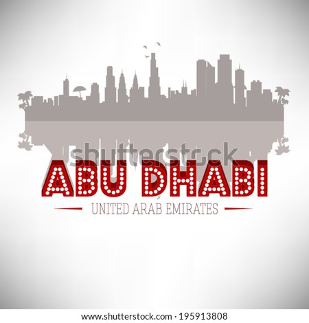 Abu Dhabi United Arab Emirates vector design. - stock vector