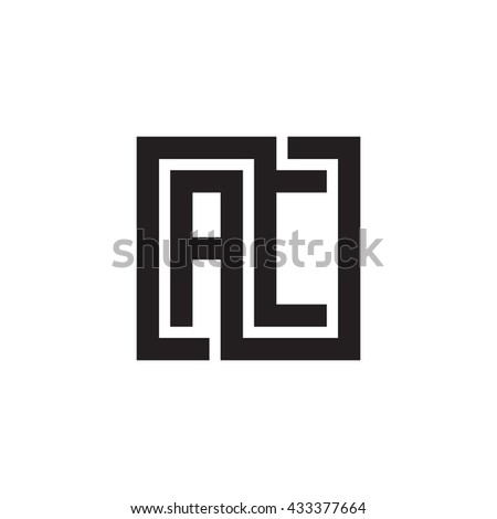 AC initial letters looping linked square monogram logo