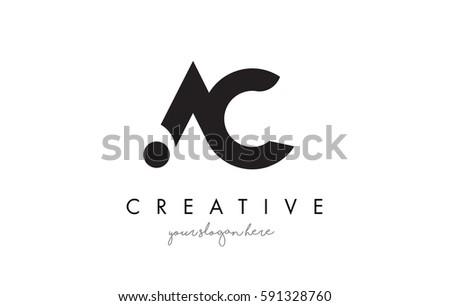 ac letter logo design creative modernのベクター画像素材 591328760