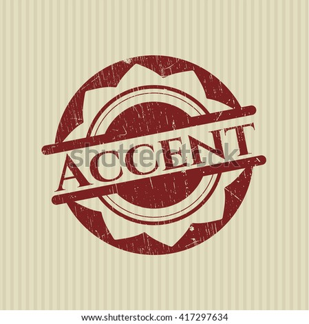 Accent rubber grunge texture stamp