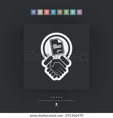 Accept terms and conditions - stock vector