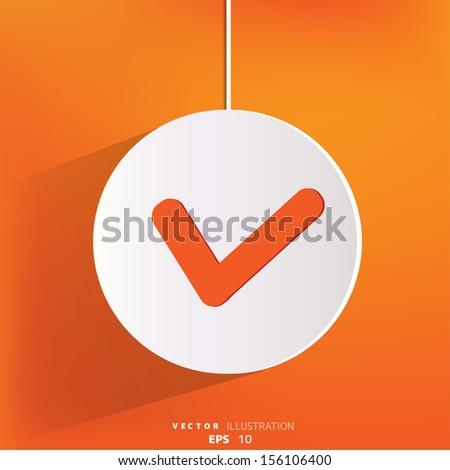 accept web icon - stock vector