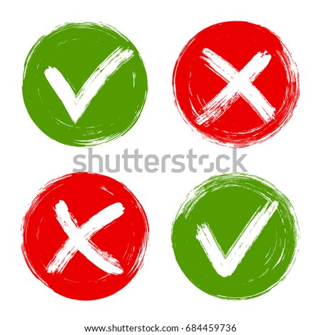 Acceptance Rejection Checkmarks Vector Set Symbols Stock Vector