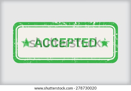 Accepted rubber stamp.Grunge accepted stamp.Vector illustration. - stock vector
