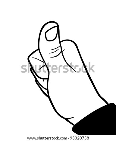 Accepting hand, business theme, vector illustration - stock vector