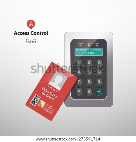 Access control - stock vector