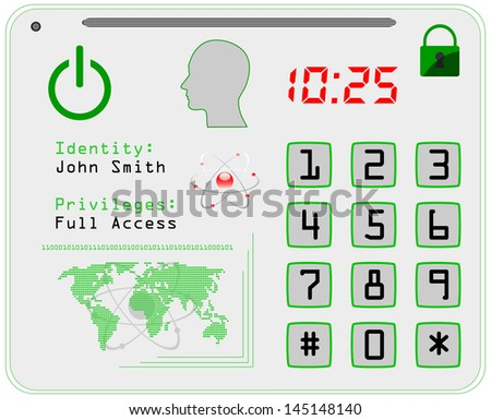 Access identification card, vector illustration. - stock vector