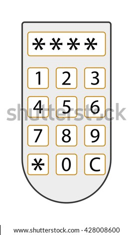 Access panel vector illustration. Security access panel icon isolated on white. Finger control access panel vector. Smart house concept - stock vector