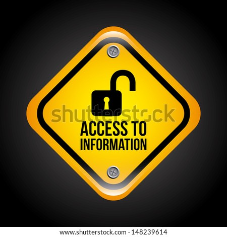 access to information over black background vector illustration   - stock vector