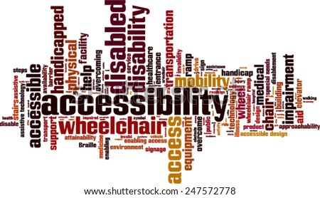 Accessibility word cloud concept. Vector illustration - stock vector