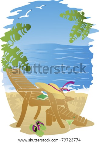 Accessories for Beach Sports and Leisure. - stock vector