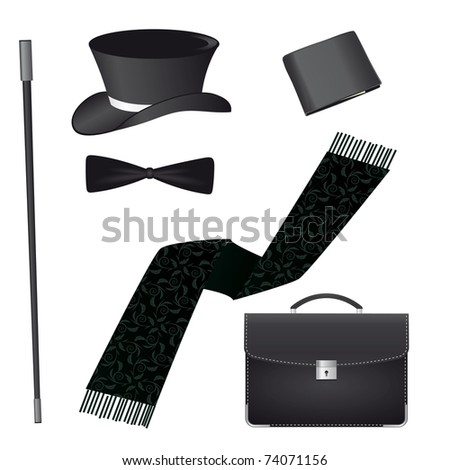 Accessories for the business gentleman. Vector illustration - stock vector