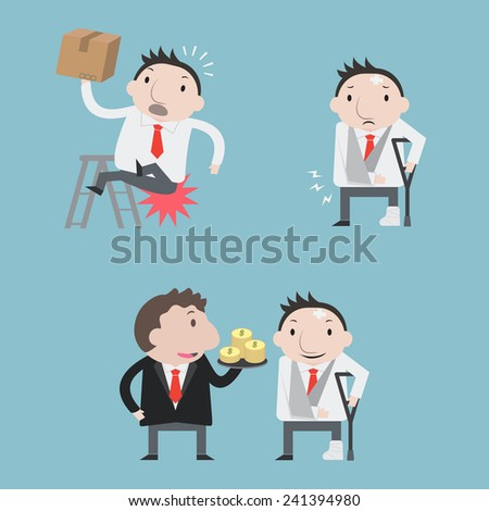 Accident businessman - Vector - stock vector