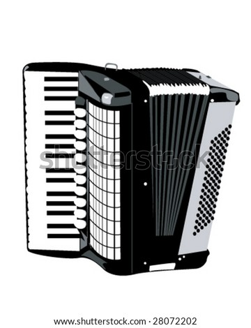 Accordion Vector Illustration - stock vector