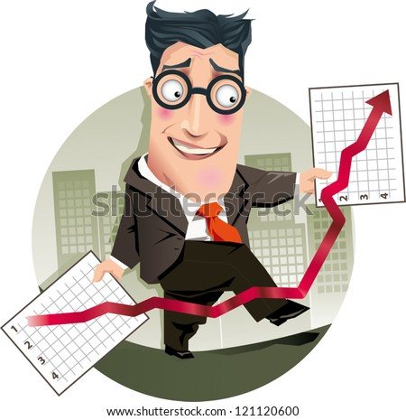 Accountant trying to correct billing errors - stock vector